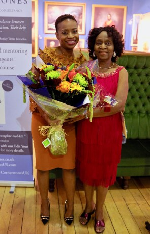Abi Dare and Dr Teju Somorin. Photo: Emma Seal