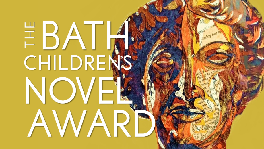 A paper cut of the Roman goddess of wisdom Minerva with the words Bath Children's Novel Award