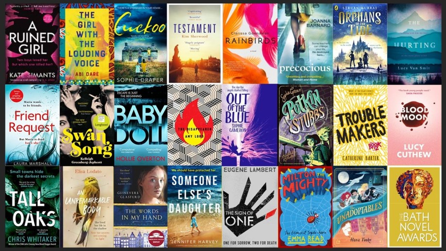 Collage of covers of Bath Novel Awards listed novels
