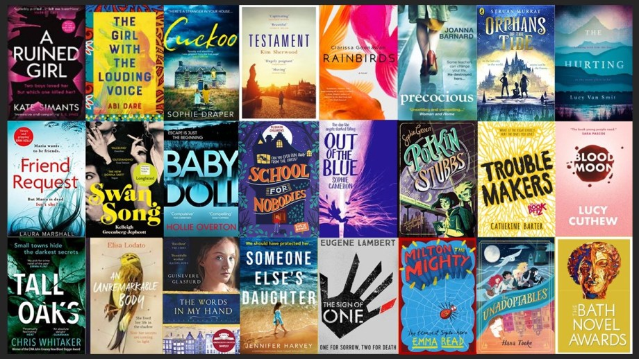 2020 collage of covers of Bath Novel Awards winners and listees