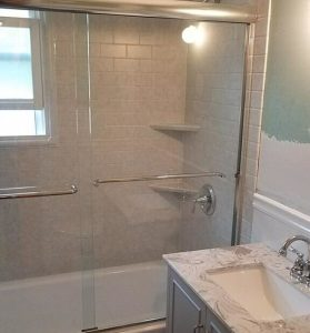 new shower doors installed