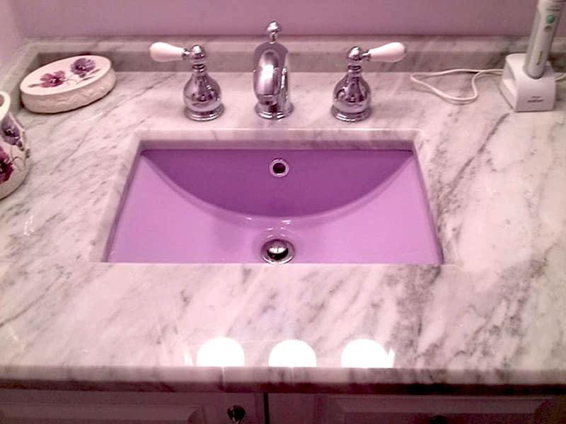 bathroom sink refinishing porcelain