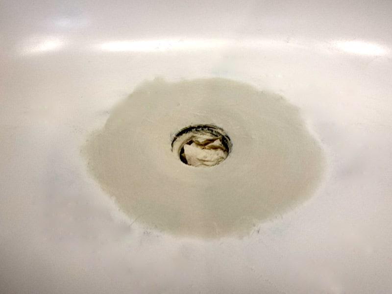 Bathtub Drain Overflow Rust Hole Repair