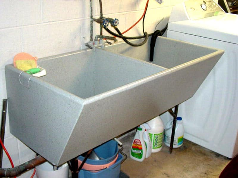 concrete sink refinishing laundry