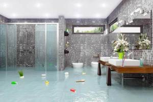 How To Clean Up A Flooded Bathroom