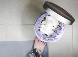 Best Bathroom Garbage Can With Swing Lid