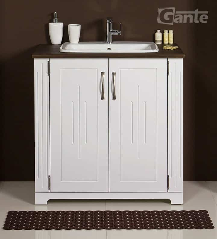 vanity unit white 81cm