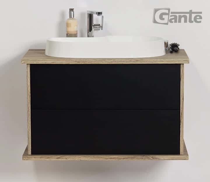 Black Vanity Unit 80cm