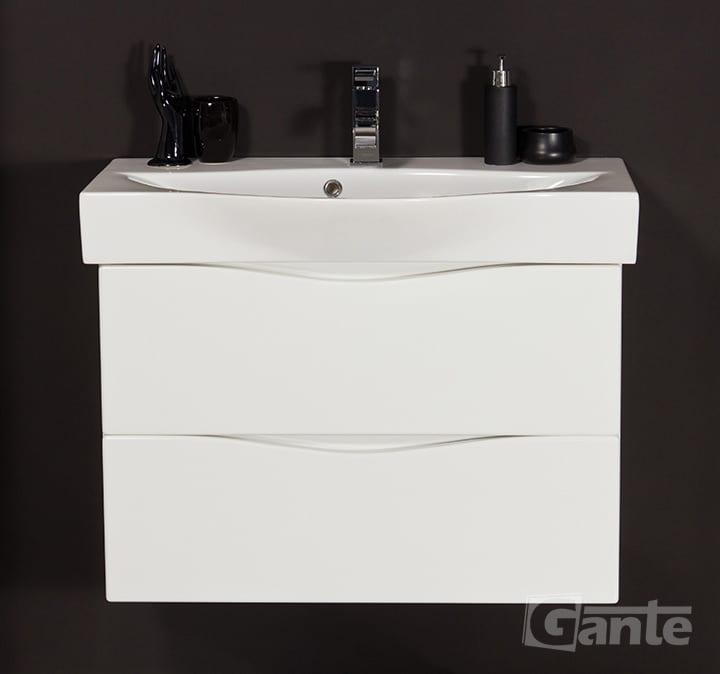 Vanity unit white 75cm
