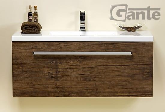 Vanity unit 100 cm antique wood