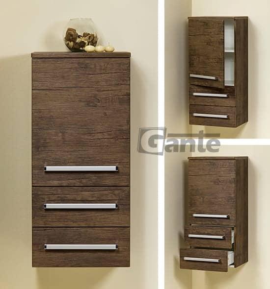 storage unit 40 cm antique wood