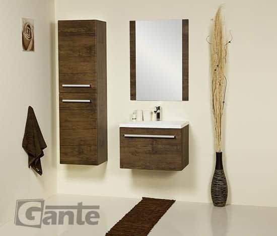 tall storage unit 40 cm antique wood