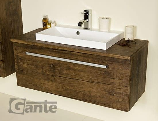 vanity unit 100 cm antique wood