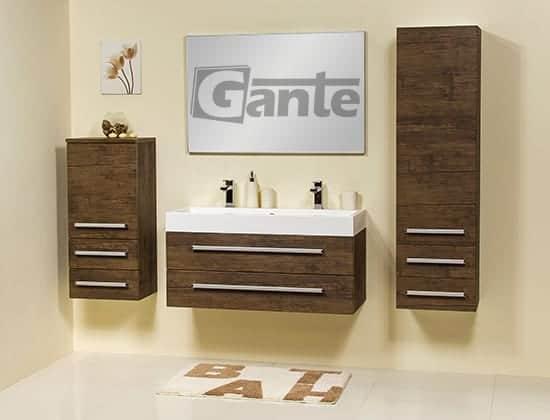 vanity unit 100cm antique wood