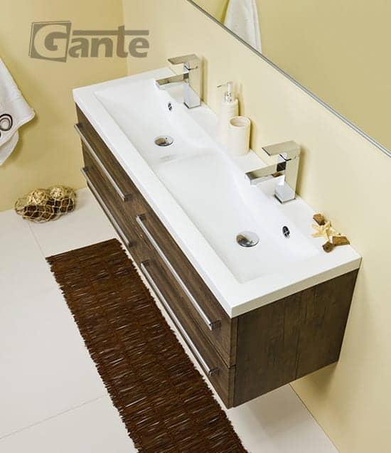 vanity unit 120cm antique wood four drawers