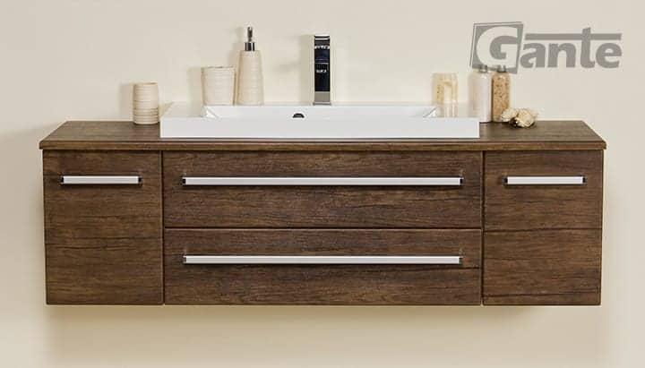 Vanity unit 140 cm antique wood