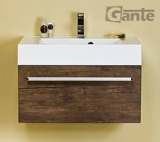 vanity unit 70 cm antique wood