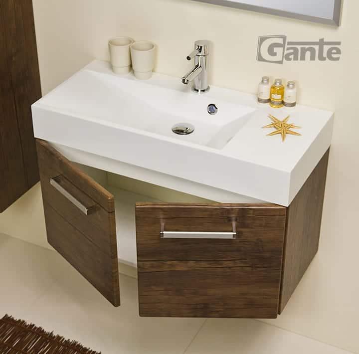 vanity unit 80cm antique wood