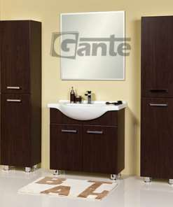 walnut vanity unit 80 cm