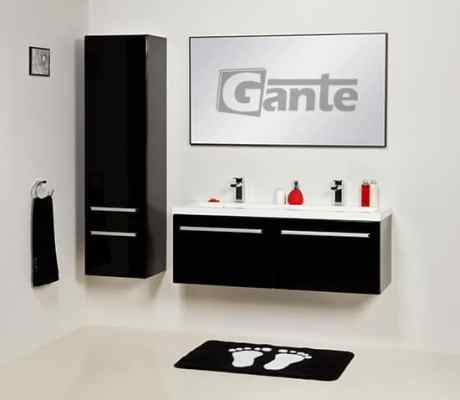 black vanity unit 120cm