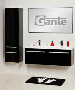 black vanity unit 120cm
