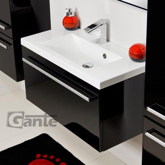 vanity unit 80 cm, black