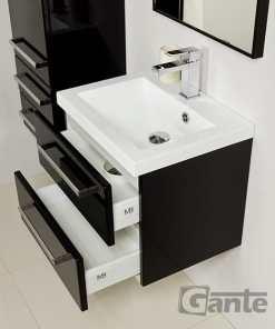 vanity unit 50cm black