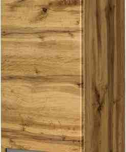 tall storage unit oak
