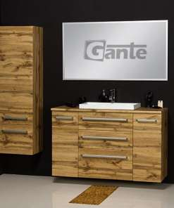 vanity unit 120 cm oak