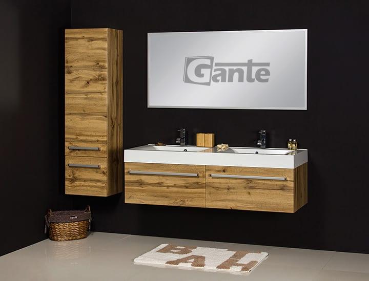 Vanity unit 140 cm oak