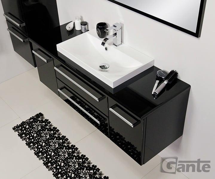 Vanity unit 120 black