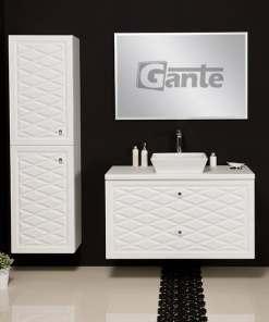 Vanity unit white 100cm
