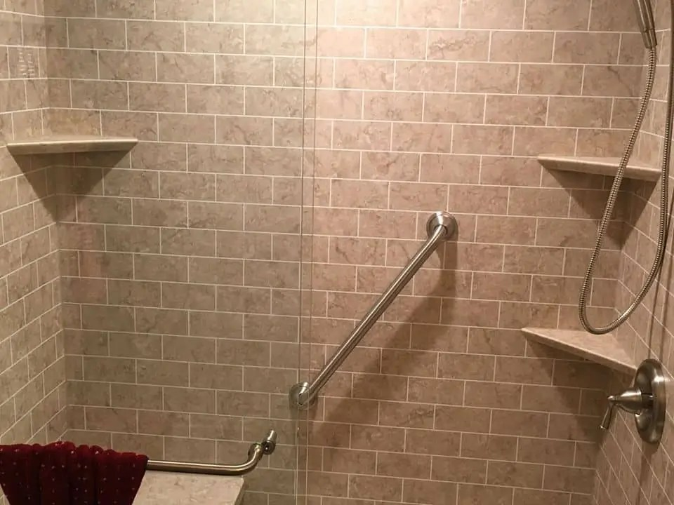 what is the easiest shower surface to
