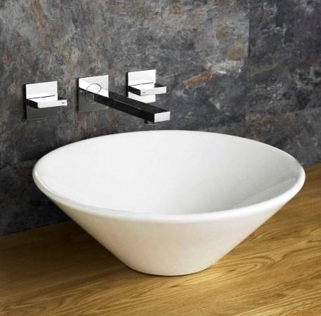 Round ceramic countertop baisin