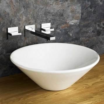 Round ceramic countertop baisin