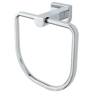 Cooke & Lewis Axis Chrome Effect Towel Ring (W)165mm