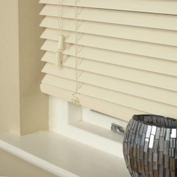 35mm Essence Fauxwood Venetian Blind Linara Cream