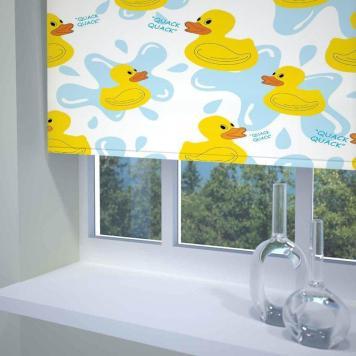 Quack Quack Ready Made Daylight Roller Blind Multi