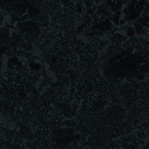 28mm Midnight Black Gloss Granite effect Round edge Laminate Worktop (L)2m (D)365mm
