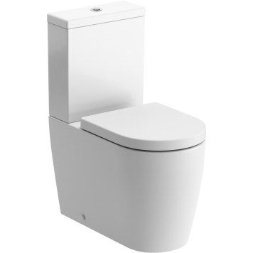 The Acacia Modern Close Coupled Toilet Pan With Soft Close Seat