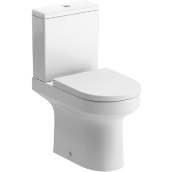 The Eden Modern Close Coupled Toilet Pan With Soft Close Seat