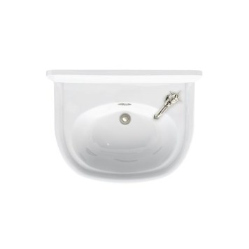 Arcade 500mm Cloakroom Basin With Nickel Overflow
