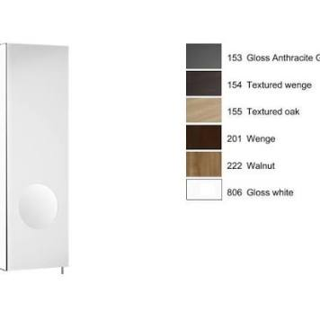 Roca - Luna 200Mm Mirror Cabinet Lh, Integrated Magnifying Mirror - Gloss White