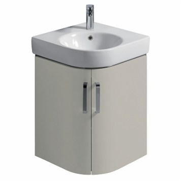 Twyford E200 Vanity Unit For Corner Handrinse Basin 500 - Grey