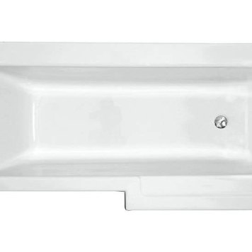 Vitra Neon L-Shaped Shower Bath 170x75cm - Right Hand