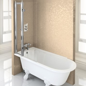 Burlington Hampton Shower Bath LH Freestanding - 1500x 750mm