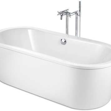 Roca Duo Plus Oval Freestanding Bath 1800X800Mm White