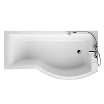 Ideal Standard Concept Right Handed Shower Bath, 0 Tap Holes, 1700mm, White