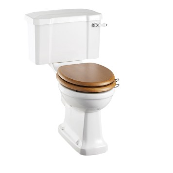 Burlington Close Coupled Toilet & Lever Cistern