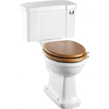 Burlington Close Coupled Toilet & Push Button Cistern